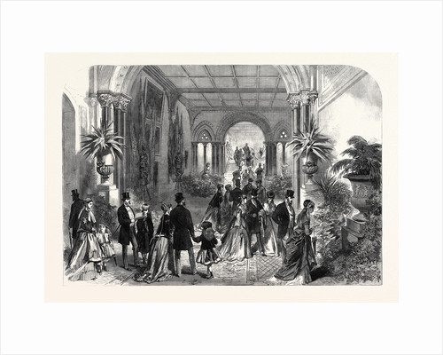 The Grand Staircase at the Leeds Exhibition of Arts 1868 by Anonymous
