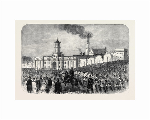 The Outbreak Among the Convicts at Chatham: St. Mary's Convict Prison: Arrival of the Military 1861 by Anonymous