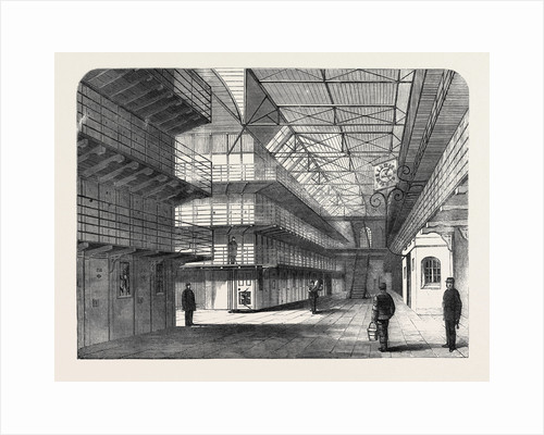 The Outbreak Among the Convicts at Chatham: Interior of St. Mary's Convict Prison 1861 by Anonymous