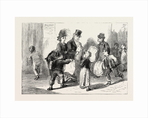 Life in Tours, France: Selling Paris Papers, 1870 by Anonymous
