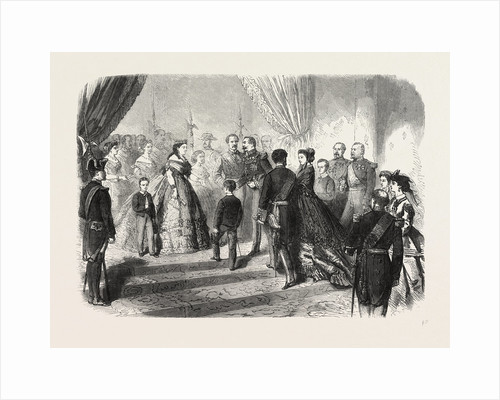 Meeting of the French and Spanish Royal Families in the Hotel De Ville, St. Sebastian, 1865 by Anonymous