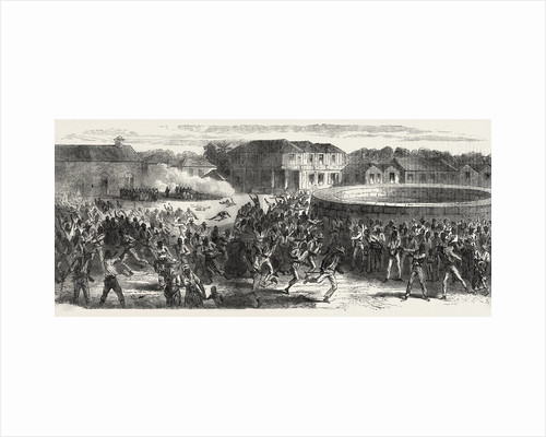 The Riots in Jamaica: Dispersing a Mob, 1865 by Anonymous