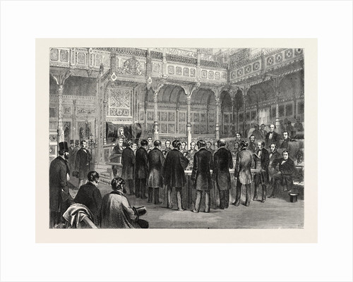 The House of Commons: Swearing-in of the Members, London, 1857 by Anonymous