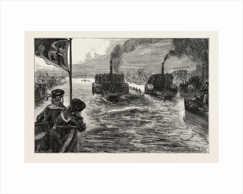 The University Boat Race, a Sketch from the Press Boat by Anonymous