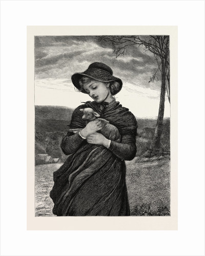 The Foundling, Woman, Lamb, Romantic by Anonymous