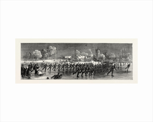 Skating Parade of the First Huntingdonshire Rifle Volunteers, UK, 1871 by Anonymous