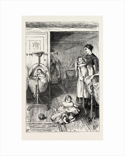 The Creche, or Baby's Home, in Stepney, London, 1871: The Nursery by Anonymous