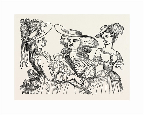 Fashionable Hats in 1784 by Anonymous