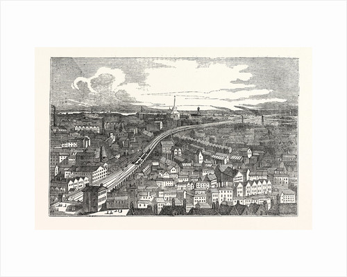 Bird's Eye View of the London and Greenwich Railway by Anonymous