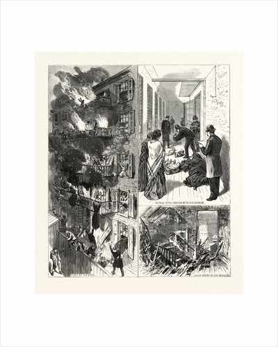 New York: The Fatal Fire in the Rear Tenement of No. 35 Madison Street by Anonymous