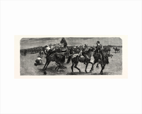 A Wrestling Match on Horseback Between the Dragoon Guards and the Royal Artillery, in the Transvaal by Anonymous