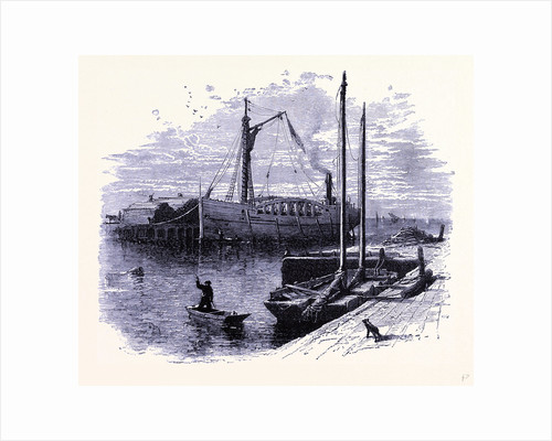 Cargo Boats Shipping Wood at Sandusky by Anonymous
