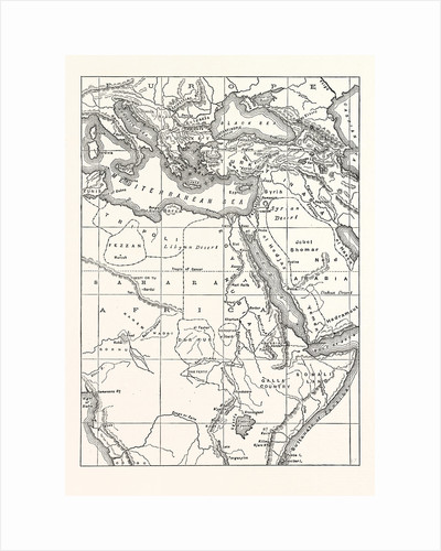 Map Of South Eastern Europe, Western Asia, And Northern And Central Africa by Anonymous