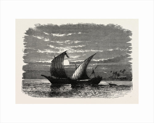 Arab Dhows On The Red Sea by Anonymous