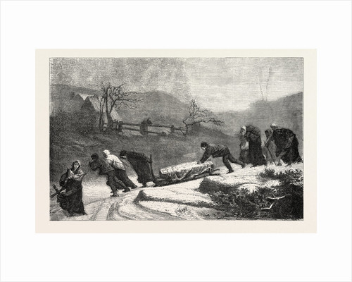 A funeral in the Vosges, painting by M by Anonymous