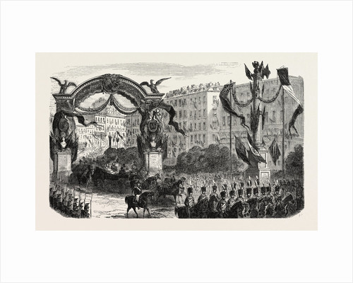 Passage of the Queen of England Under the Triumphal Arch by Anonymous