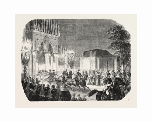 Arrival of the Queen of England at the Castle of Saint-Cloud, France. Queen Victoria by Anonymous