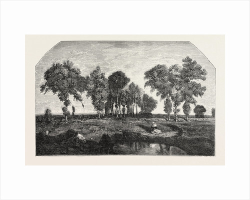 Salon of 1855. The Forest, Engraving 1855 by Anonymous