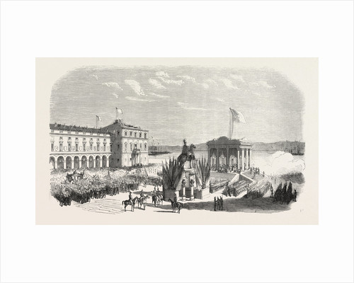 Recognition of the New Sovereign on the Place Du Commerce in Lisbon. Portugal, 1855 by Anonymous