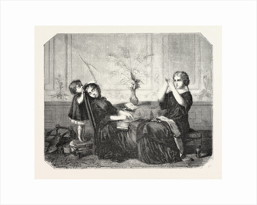 Salon of 1855. French School. Orphans, Engraving by Anonymous