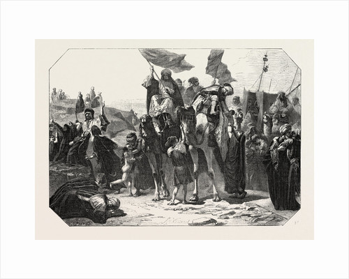 Return from Mecca, Engraving 1855 by Anonymous