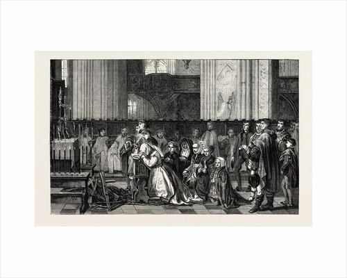 Salon of 1855. Belgian School. The Trentaines De Bertal De Haze, Engraving by Anonymous