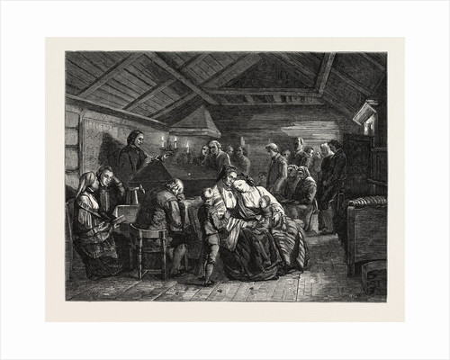 Salon of 1855. Norway. Funerals in Rural Norway, Engraving by Anonymous