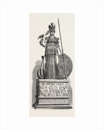 Salon of 1855. Minerva of the Parthenon, Engraving by Anonymous