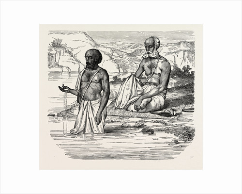 Brahmins Worshipping the Ganges, India by Anonymous