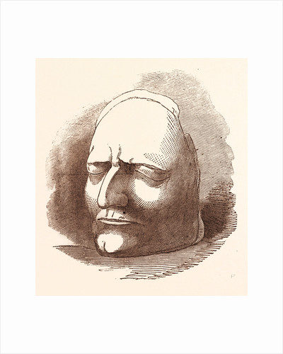 Posthumous Mask of Sir Isaac Newton by Anonymous