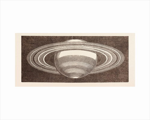 Planet Saturn As Seen in November, 1852, But Altered for a Non-Inverting Telescope by Anonymous