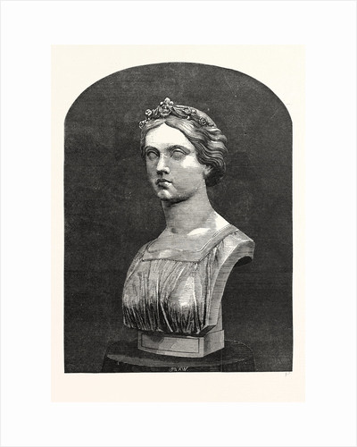 Marble Bust of the Princess Frederick William of Prussia by Anonymous
