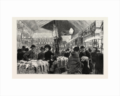 Leadenhall Market at Christmas Eve, a Covered Market in London, Located on Gracechurch Street by Anonymous
