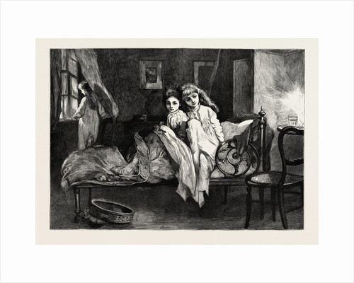 Girls in Bed, Girl Near the Window by Anonymous