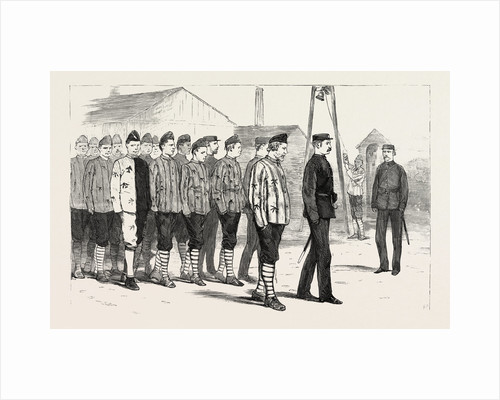 The Claimant with Other Convicts Leaving the Joiners' Shop, Portsmouth Convict Prison by Anonymous