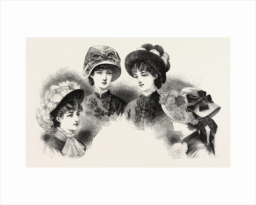 1882 Fashionable Hats by Anonymous