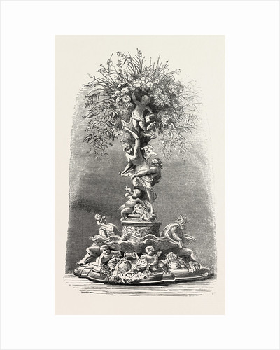 Fruit and Flower Stand in Silver, Table Decoration by Anonymous