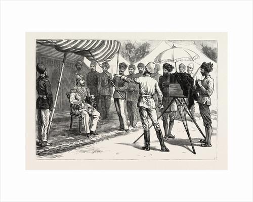 Mr. Burke Posing the Ameer, the Ameer Yakoob Khan at Gandamak, Afghan War by Anonymous