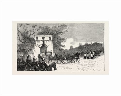 The Procession Leaving Camden House for St. Mary's Church, the Funeral of Prince Louis Napoleon by Anonymous