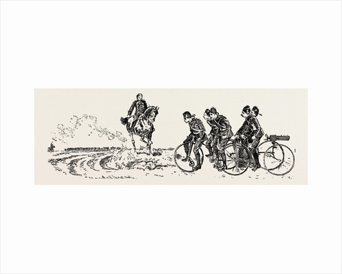 Bringing Up the Guns, Bicycle, Bicycles by Anonymous