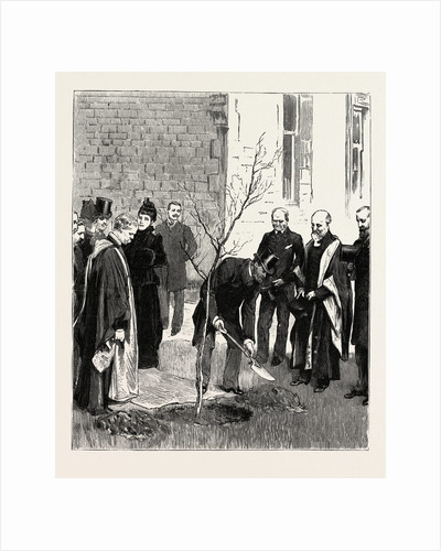 Bournemouth, the Prince Planting a Tree, at the Victoria Hospital in Commemoration of His Visit by Anonymous