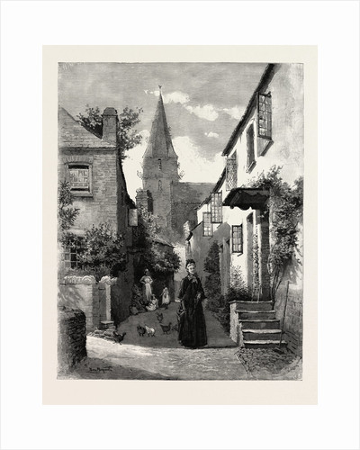 English Village Street by Anonymous
