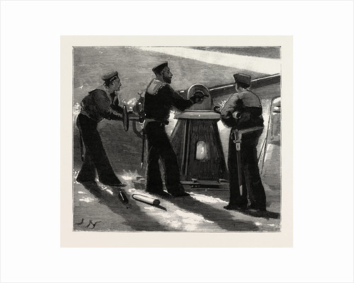 Night Quarters on Board a Man of War, Working the Quick Firing Gun by Anonymous