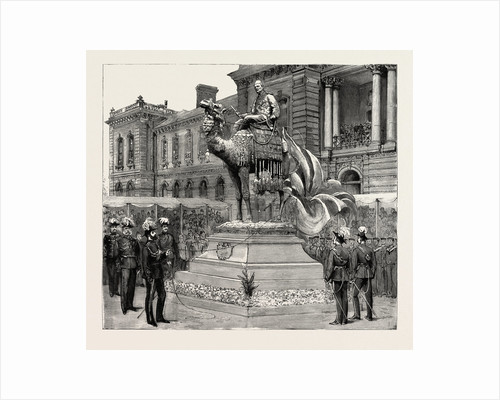 Statue of General Gordon, Brompton Barracks, Chatham, the Prince of Wales Unveiling the Statue by Anonymous
