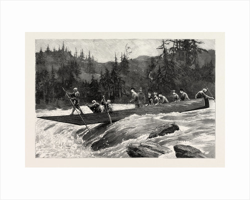 With the Duke and Duchess of Connaught in Japan, the Duke and Duchess and Their Suite Shooting the Katsura Rapids by Anonymous