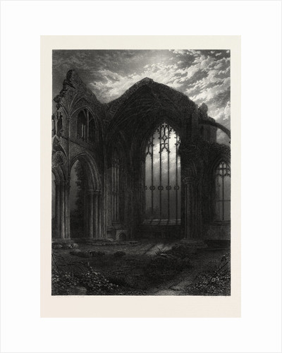 Melrose Abbey, Scotland, Great Britain by Anonymous