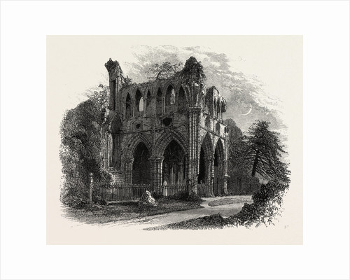 Sir Walter Scott's Tomb, Dryburgh Abbey, Edinburgh and the South Lowlands, Scotland, Great Britain by Anonymous