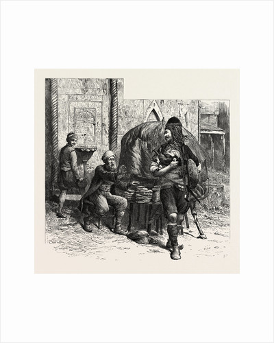 A Bashi-Bazouk and a Bread-Seller, Constantinople, Istanbul, Turkey by Anonymous