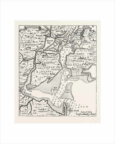 Map of New York About the Middle of the Eighteenth Century by Anonymous