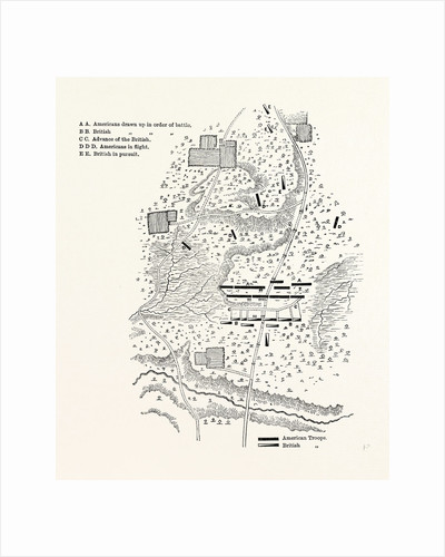Plan of the Battle of Camden by Anonymous